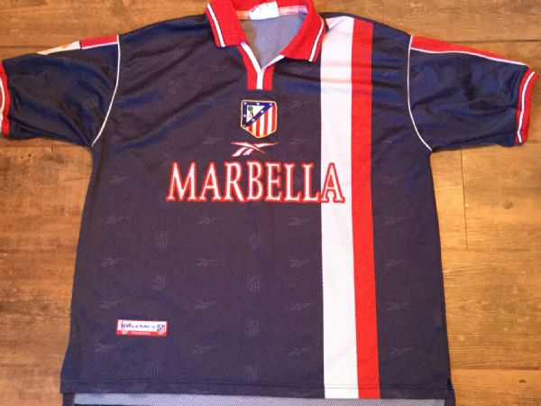 1998 1999 Atletico Madrid Away Football Shirt Adults Large